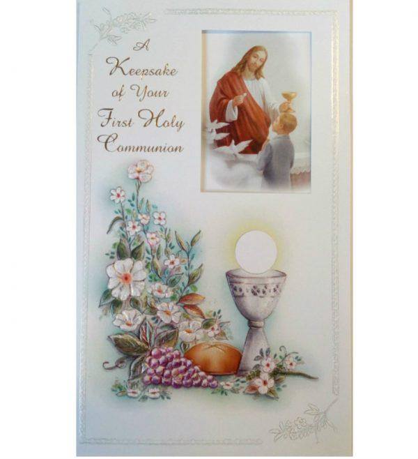 Keepsake communion card
