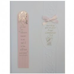 Girls bookmark comunion card