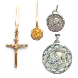 Jewellery and Plated Medal Pendants - Sale