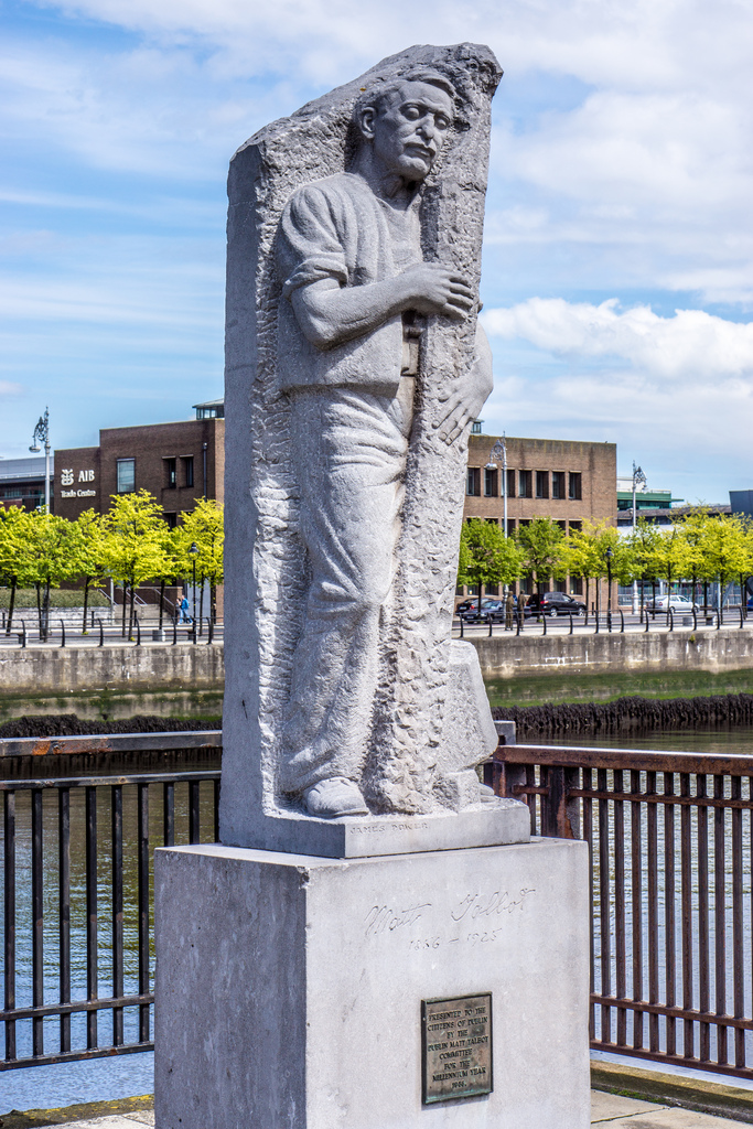 Statue of Talbot near Dublin's Talbot Memorial Bridge.