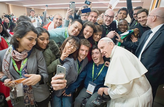 Pope Selfie with young people