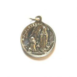 Our Lady of Lourdes Medal -Round Aluminium