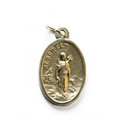 """St Bridget Medal - Oval Approx. 1"""" Oxidised"""