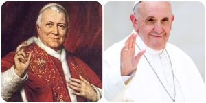Pope Francis and Pope Pius IX