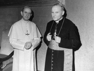 Pope Paul VI and Pope JP- together