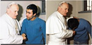 Pope John Paul II and Mehmet- meeting