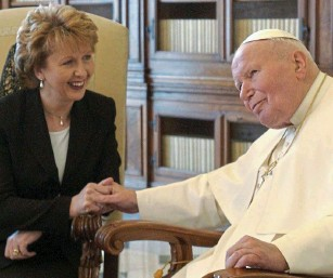 Mary Mcaleese & St John Paul II