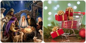 Holy day or Shopping day- collage