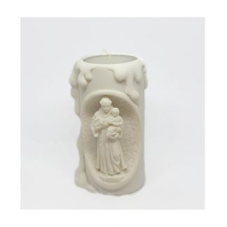 St Anthony Resin Tea light Holder