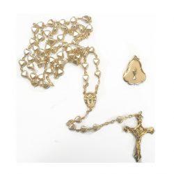 Cream Rosary Communion Medal