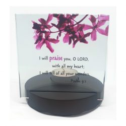 Crystal Candle Holder Set Psalm 9.1