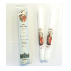 Saint John XXIII tall candlestick holders