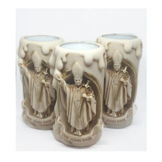Pope John Paul II Resin Tea Light Holder -