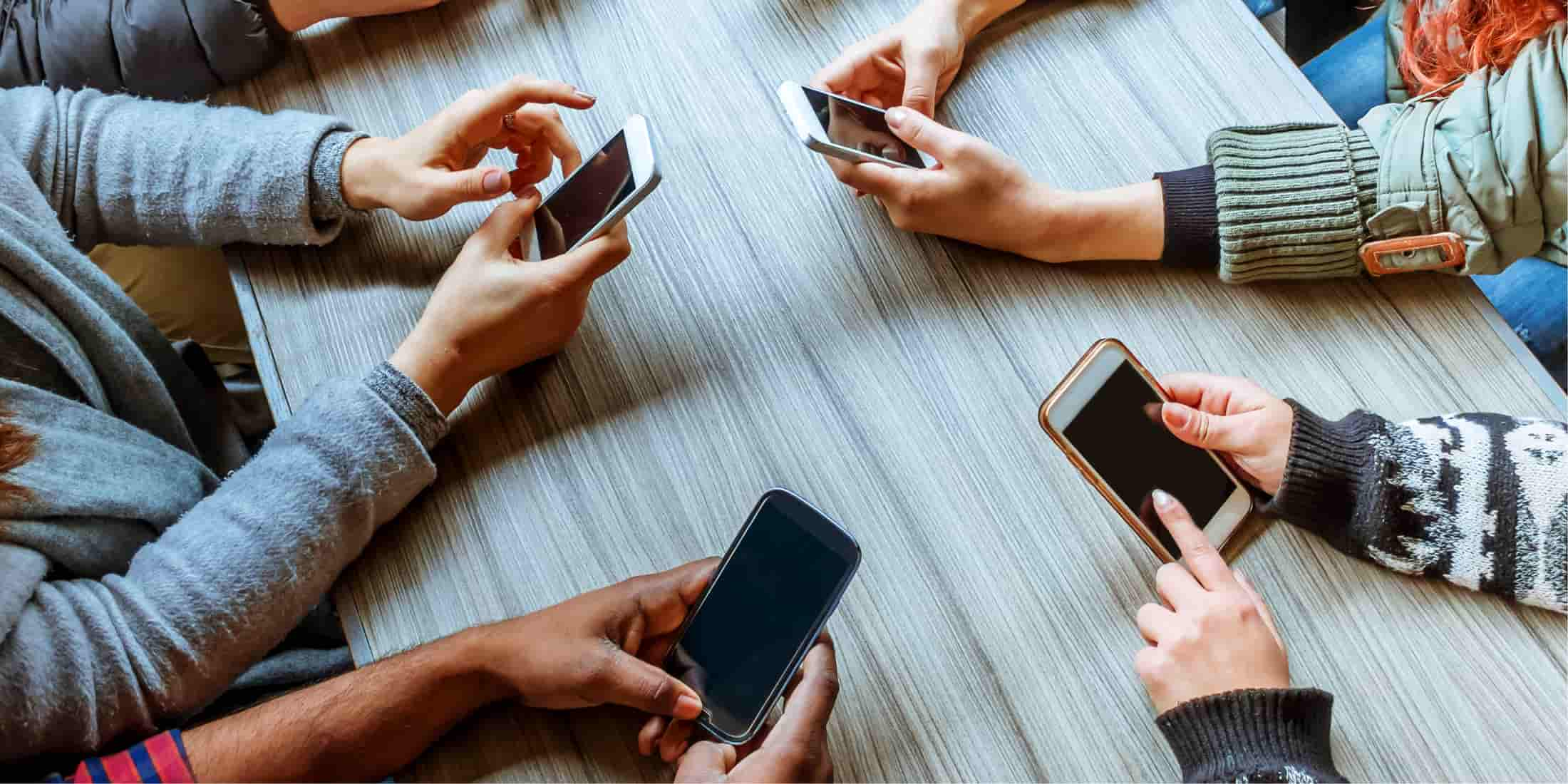 Friends group- all on phones
