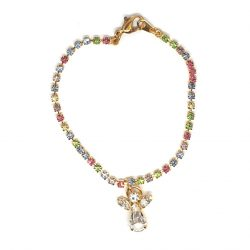 Coloured Crystal Angel Bracelet