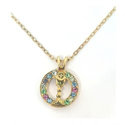 Coloured Cystal FHC Chalic Necklace