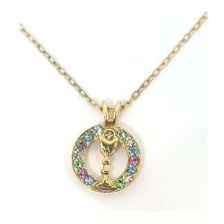Coloured Cystal FHC Chalic Necklace