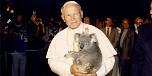 Pope John Paul with animal