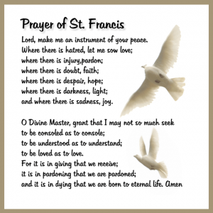 Prayer to St Francis
