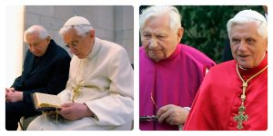 Pope Benedict in Germany- with his brother
