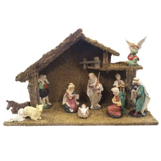Nativity with figures