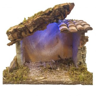 Nativity Shed with Lights