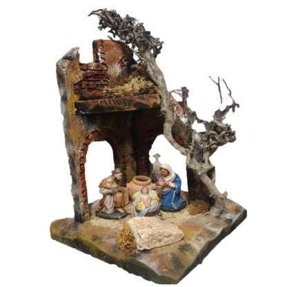 Traditional Corner Nativity Hut