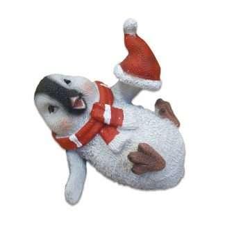 Jolly Christmas Penguin - Resin Statue 9cm long and 7.5cm high