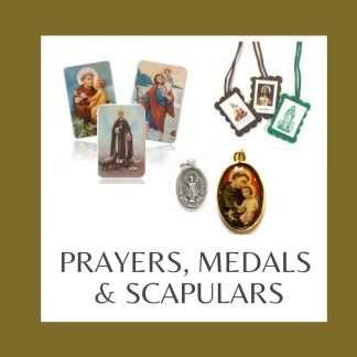 PRAYERS, MEDALS & SCAPULARS