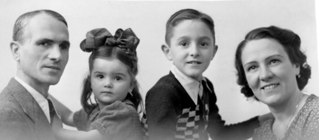 Pierre Claverie OP as Child with Family