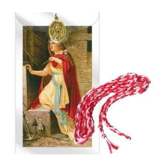 St Philomena Prayer Card and Medal